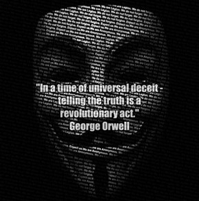 G Orwell quote - Anon