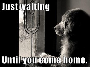 Just waiting  Until you come home.