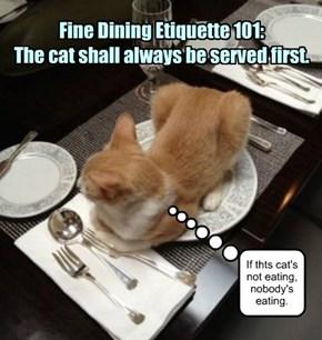 Fine Dining Etiquette 101.