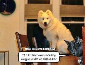 Ai am a kitteh - mebbe ai doan eben BELEEB in Ceiling Goggie!