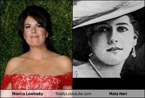 Monica Lewinsky Totally Looks Like Mata Hari