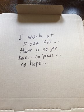 "Ask for a Joke on Your Pizza Box, Get a ""Joke"""
