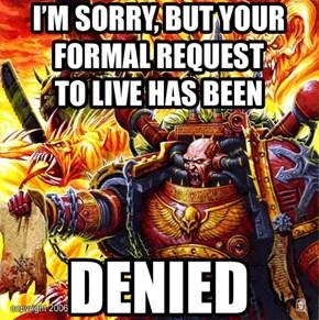 Notice of denial