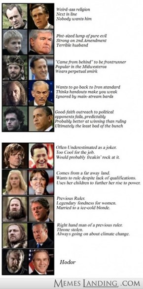 Here's Your Game of Thrones Politician Guide