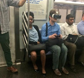 At Least he Enjoys His Commute