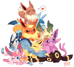Eeveelution Pile