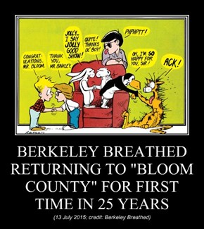"BERKELEY BREATHED RETURNING TO ""BLOOM COUNTY"" FOR FIRST TIME IN 25 YEARS"