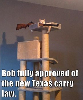 Bob fully approved of the new Texas carry law.