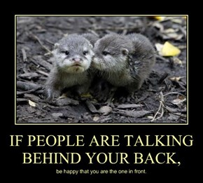IF PEOPLE ARE TALKING BEHIND YOUR BACK,