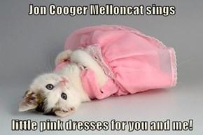 Jon Cooger Melloncat sings   little pink dresses for you and me!