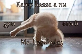 Kamp hazza a nu  gym                          coach Ms. Icandodat