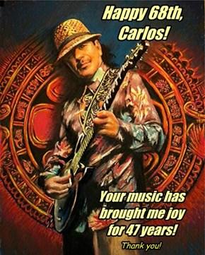 Happy Birthday, Carlos Santana!!