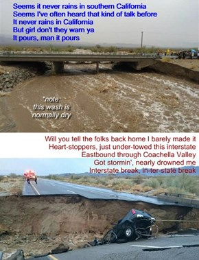 """California 1-10 Bridge Collapse 19 July 2015"" (TTO ""It Never Rains In Southern California"" by Albert Hammond)"