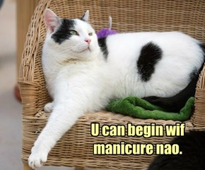 U Can Begin Wif Manicure Nao