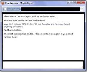 EA Tech Support, Ladies and Gentlemen