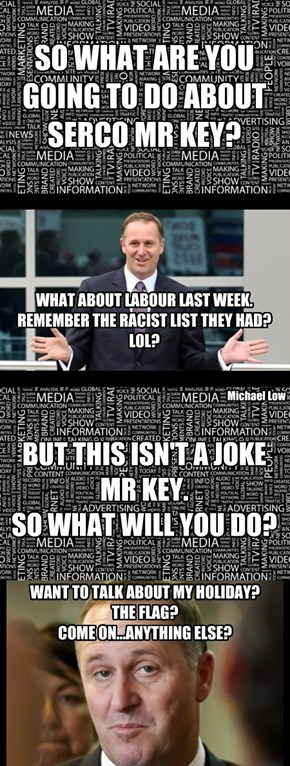 John Key - Dodging answers, again.