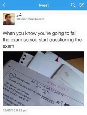 Was This a Math Test or Reading Comprehension Exam...