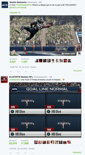 EA Sports Has Super Bowl 49 Jokes, Burns Seahawks on Twitter