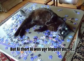 But Ai thort AI wus yor biggest puzzle...