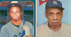 This Tumblr Mixes Old Baseball Cards With Rap Music