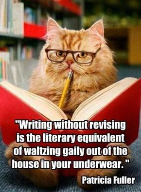 Cats are natural editors.