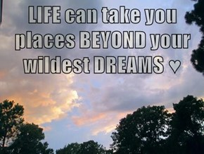 LIFE can take you places BEYOND your wildest DREAMS ♥