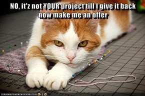 NO, it'z not YOUR project till I give it back                             now make me an offer