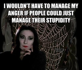 I WOULDN'T HAVE TO MANAGE MY ANGER IF PEOPLE COULD JUST MANAGE THEIR STUPIDITY