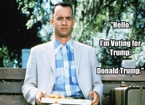 """""""Hello.  I'm Voting for Trump.  Donald Trump."""""""