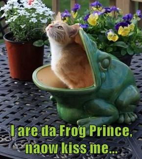 I are da Frog Prince, naow kiss me...