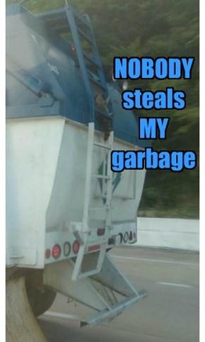 NOBODY steals  MY  garbage