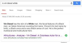 Vin Diesel's Ethnicity According to Google