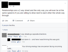 Relationships Are A Two Way Street