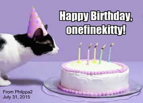 Happy Birthday, onefinekitty!
