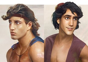Artist Creates 'Real Life' Disney Hunks