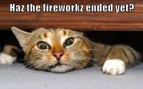 Haz the fireworkz ended yet?