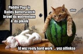 Puddin'Pop  'n  Bailey Butterscotch  brawt da watrmelum  4  da piknik