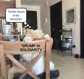 Grump in solidarity