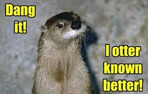 I otter known better!