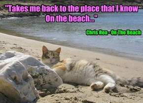 """""""Takes me back to the place that I know On the beach..."""""""