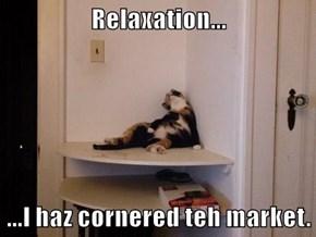 Relaxation...  ...I haz cornered teh market.