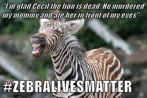 #ZEBRALIVESMATTER
