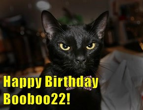 Happy Birthday Booboo22!