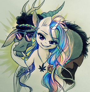 Celestia and Discord used to be Cool, Man!
