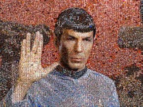 Selfie Mosaic of the Day: William Shatner Orchestrates a Vulcan Tribute to Leonard Nimoy