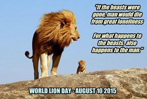 WORLD LION DAY - AUGUST 10 2015