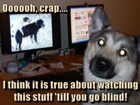 Oooooh, crap....  I think it is true about watching this stuff 'till you go blind!