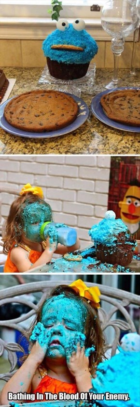 Cookie Monster Cupcake Madness