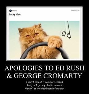 APOLOGIES TO ED RUSH & GEORGE CROMARTY
