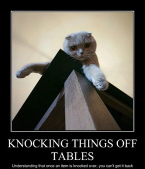 KNOCKING THINGS OFF TABLES
